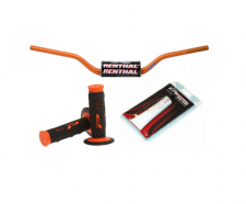 New Renthal Fat bar Handlebars Orange Pro Grips Renthal Grip Glue Combo 604 Bars